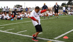 Bay Area HQ Sports: 7 yr Old Amazing TD Catch and Dance with Colin Kaepernick