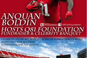 Bay Area HQ Sports: 49ers' Anquan Boldin to Host Fundraiser and Celebrity Banquet for Q81 Foundation