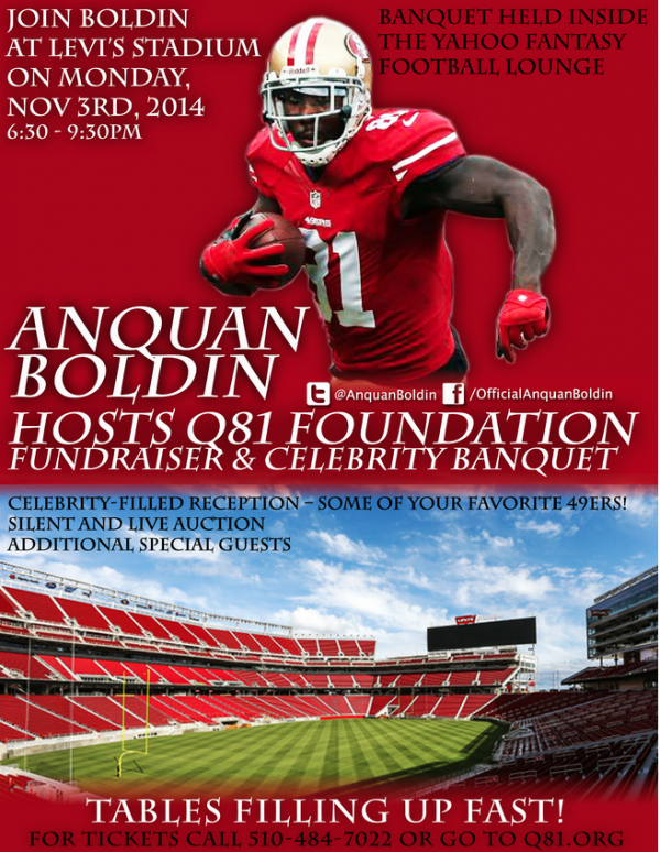 Anquan Boldin Fundraiser November 2014