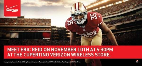 Eric Reid - Joe Staley at Verizon