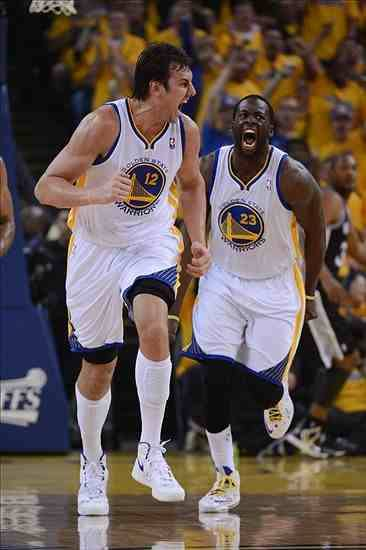 Andrew Bogut and Draymond Green