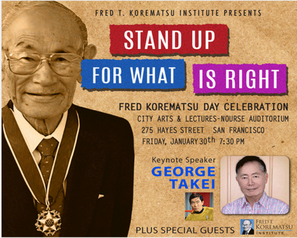 Fred Korematsu Day Celebration Featuring Keynote Speaker George Takei