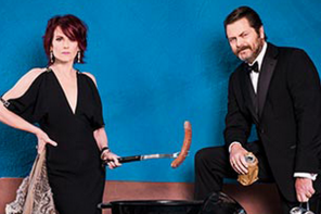 Bay Area HQ Comedy: Nick Offerman and Megan Mullally to Perform Together at The Masonic on 4/26/15