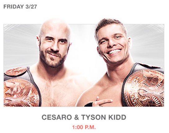 Cesaro Tyson Kid Wrestlemania 31 Superstore San Jose Photo Op Meet Greet Autograph