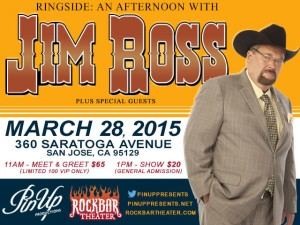 Jim Ross Live in San Jose at Rockbar Theater