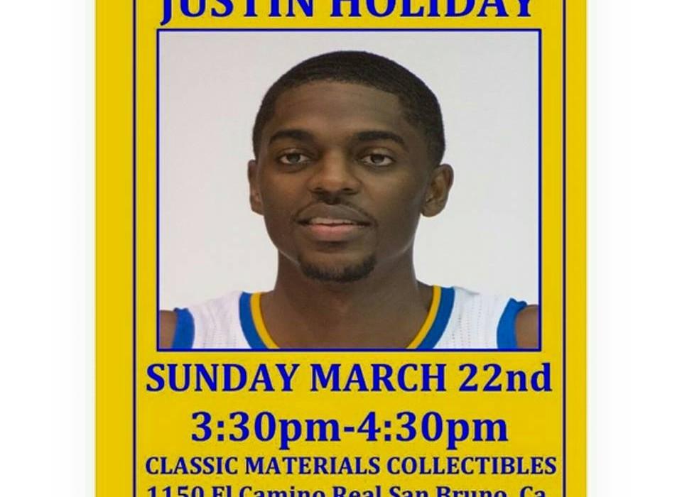 Justin Holiday Golden State Warriors Classic Materials Meet Greet
