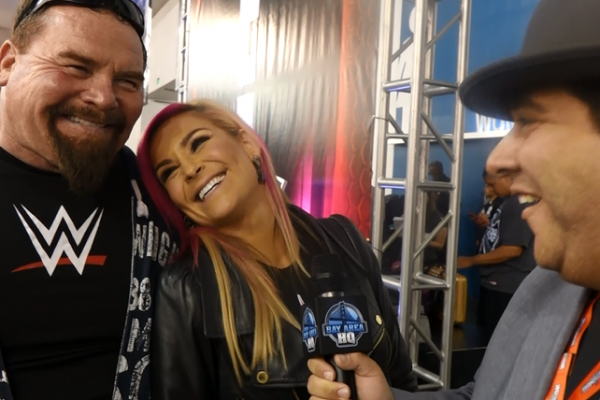 Natalya Nattie Neidhart and Jim The Anvil Neidhart Wrestlemania 31 Axxess Interview 2015