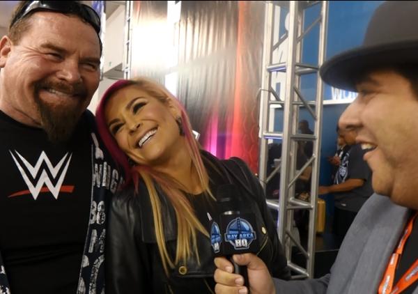 Natalya Nattie Neidhart and Jim The Anvil Neidhart Wrestlemania 31 Axxess Interview 2015
