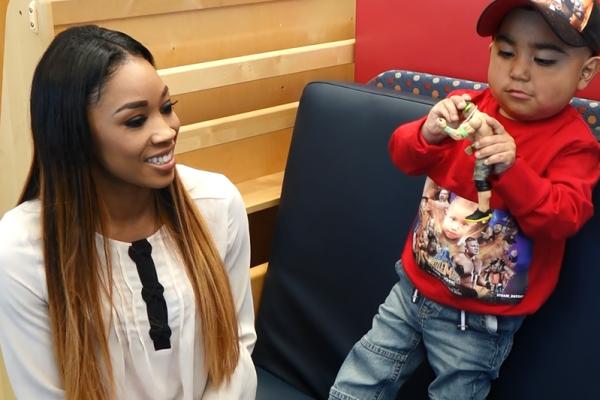 WWE Total Divas Cameron Ariane Andrew Visits Lucille Packard Children's Hospital