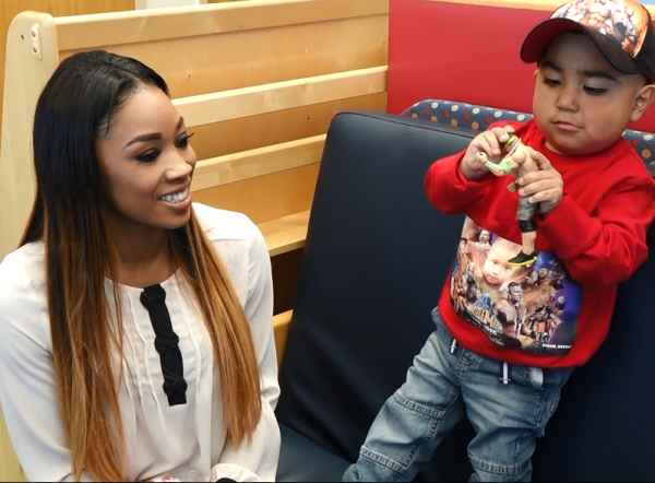 WWE Total Divas Cameron Ariane Andrew Visits Lucille Packard Children's Hospital