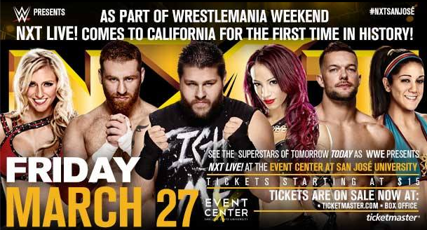 Wrestlemania 31 NXT Live San Jose Event Center