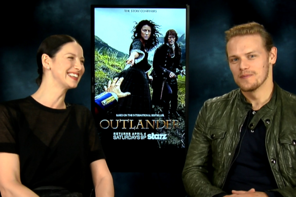 Outlander Caitriona Balfe & Sam Heughan Interview
