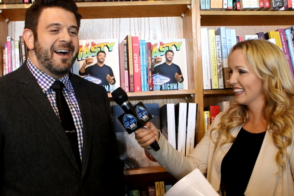 Adam Richman Book Signing San Francisco Book Passage Man V Food Straight Up Tasty Interview