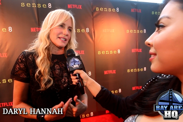Cast of Sense8 Interviews San Francisco Premiere 2015 Red Carpet Naveen Andrews Daryl Hannah