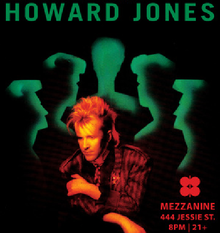 Howard Jones Mezzanine San Francisco Tour 2015