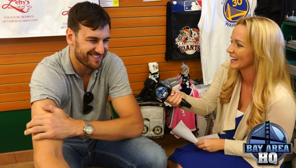 Andrew Bogut 2015 NBA Champion Golden State Warriors Interview Leftys Parade Meet and Greet