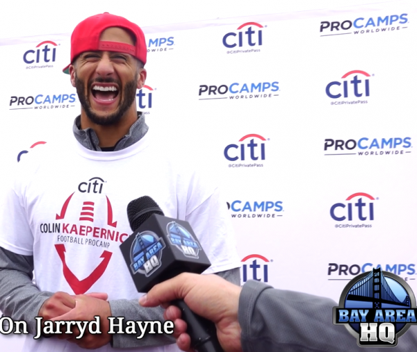 Colin Kaepernick ProCamps Golden State Warriors Champions 2015 49ers Interview!