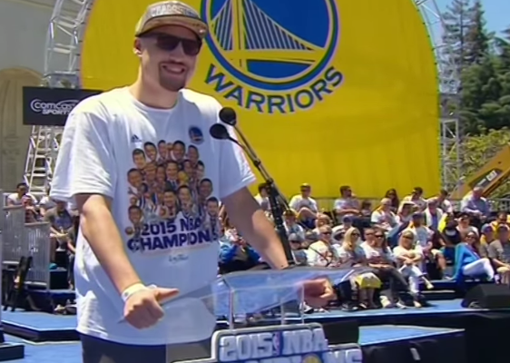 Klay Thompson Lefty's Bay Area Meet Greet 2015 Warriors NBA Champions