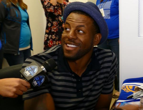 Golden State Warriors NBA Finals MVP Andre Iguodala Interview Autograph Meet & Greet Microsoft Store Windows 10 Launch