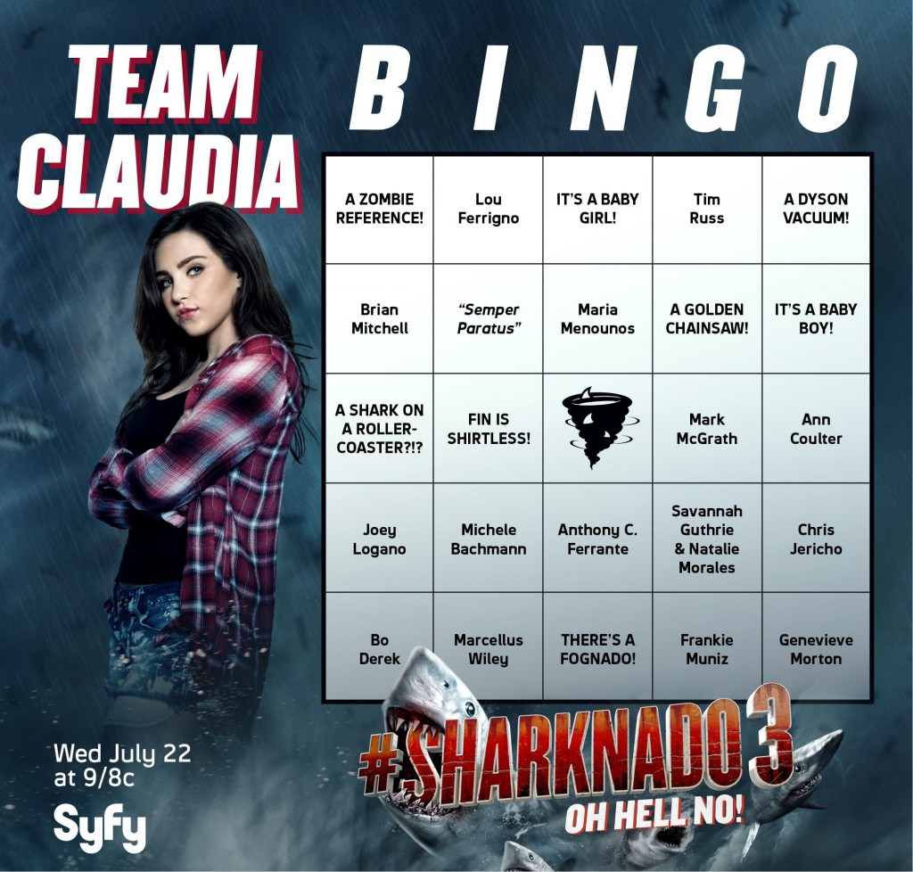 Sharknado 3 Cameo Bingo Cards 2