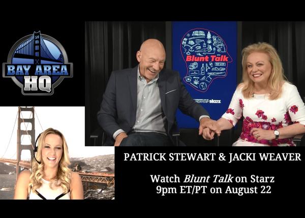 Blunt Talk Interview Patrick Stewart Jackie Weaver Taylor Swift Network San Francisco