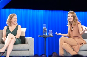 VIDEO: Jessica Alba & The Honest Company extend Maternity Leave at Salesforce Dreamforce Women's Leadership Summit