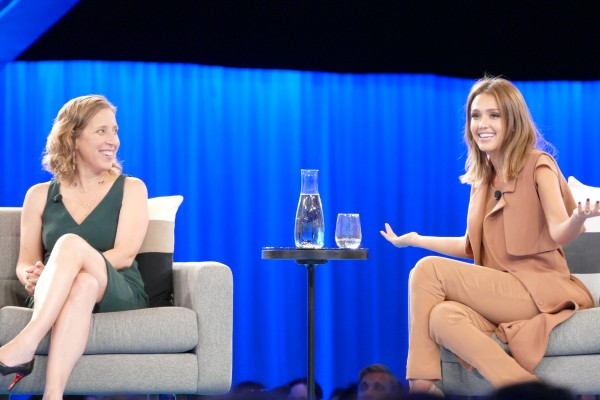Jessica Alba & Susan Wojcicki at Salesforce Dreamforce 2015 Women's Leadership Summit San Francisco Bay Area