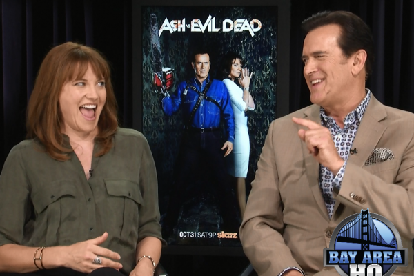Bruce Campbell Lucy Lawless Ash vs. Evil Dead Starz Interview 2015 Halloween Season Premiere Streaming Online Episodes S1E1