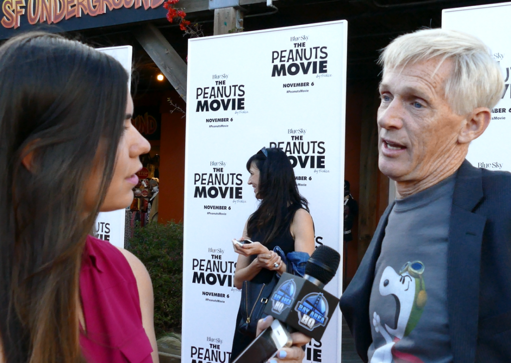 Craig Schulz son Charles Schulz The Peanuts Movie Interview San Francisco Bay Area Red Carpet Premiere Pier 39