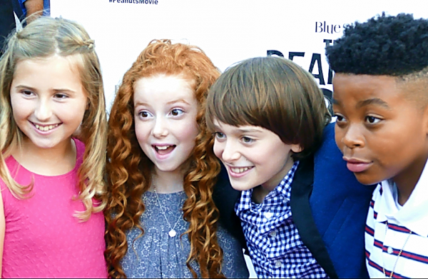The Peanuts Movie San Francisco Red Carpet Pier 39 Premiere Bay Area Lucy Charlie Brown Franklin Red Haired Girl Noah Schnapp Mar Mar Francesca Capaldi Hadley Belle Miller