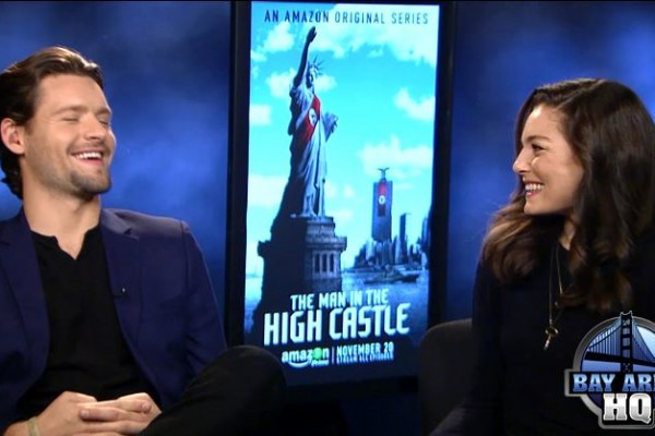 The Man in The High Castle Luke Kleintank and Alexa Davalos Interview Amazon The Beatles Geocaching