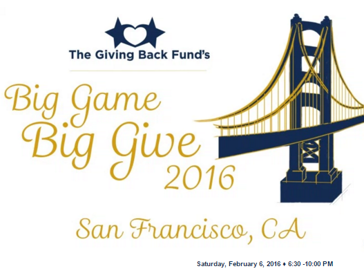 Big Game Big Give 2016 San Francisco Bay Area Super Bowl 50