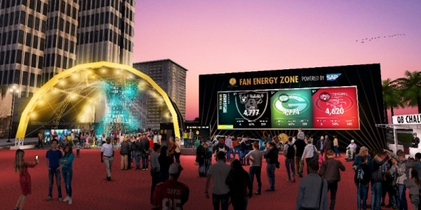 Super Bowl 50 Fan Energy Zone SAP Fan Wall Fan Stage Fan Dome Schedule Super Bowl Parties