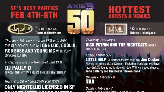 AX3 Super Bowl 50 Parties