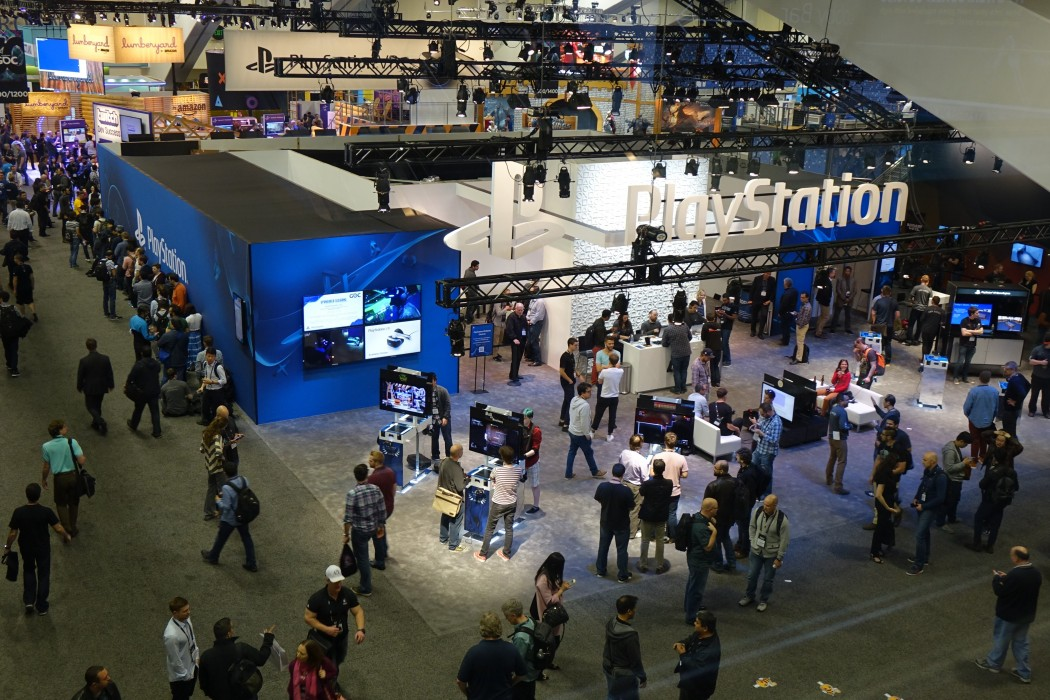 The giant Sony Playstation Area at GDC