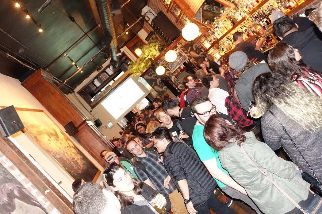 Guests enjoy the #GDC16 Polycount Marmoset Meetup at Jon Collins Bar