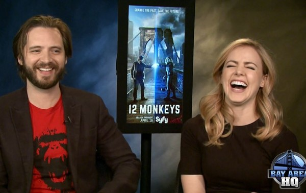 Amanda Schull Aaron Stanford 12 Monkeys Season Two Interview