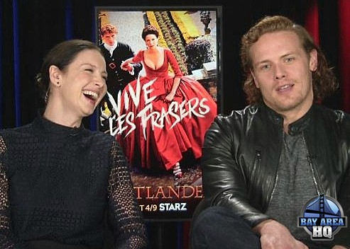 Outlander Season 2 Caitriona Balfe Sam Heughan Interview