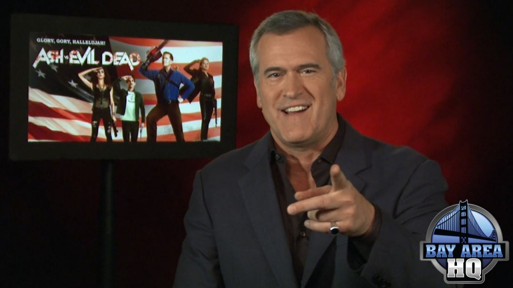 Bruce Campbell Ash Vs. Evil Dead Season 2 Stars Full Episode Interview Sharknado Halloween
