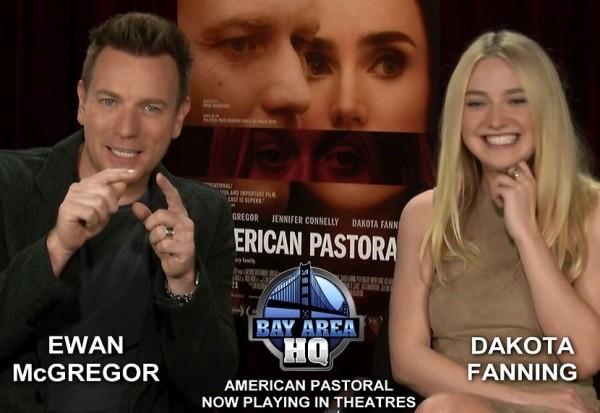 Dakota Fanning and Ewan McGregor American Pastoral Interview 2016 Movie