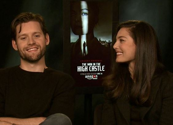 Alexa Davalos Luke Kleintank The Man in the High Castle Season 2 Interview San Francisco