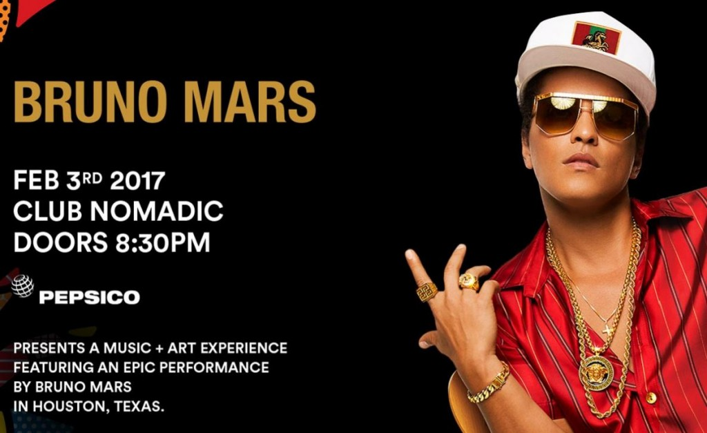 Bruno Mars Club Nomadic Houston