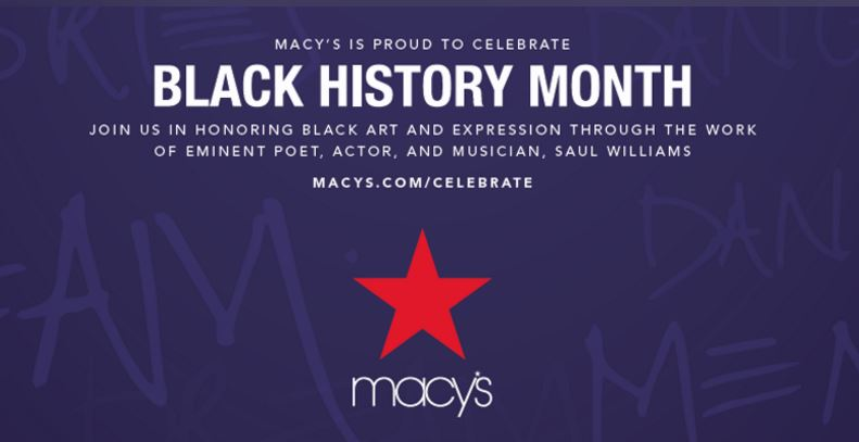 Macy's Black History Month
