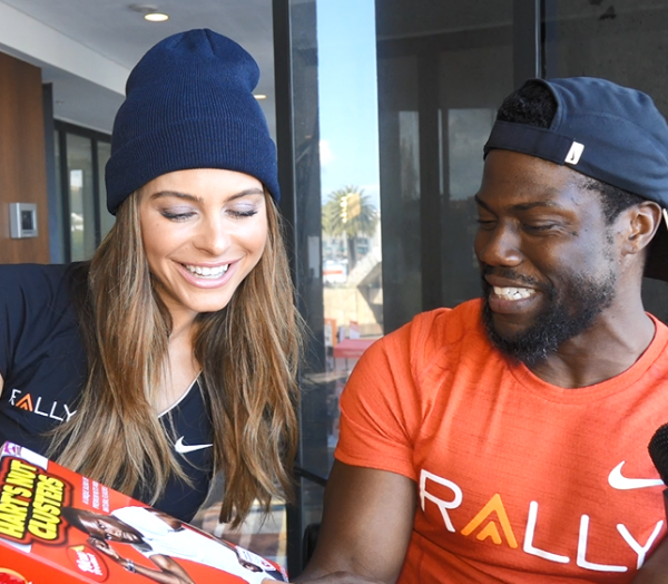 Kevin Hart Maria Menounos Interview San Francisco Cereal Box Rally Health Healthfest Bay Area HQ