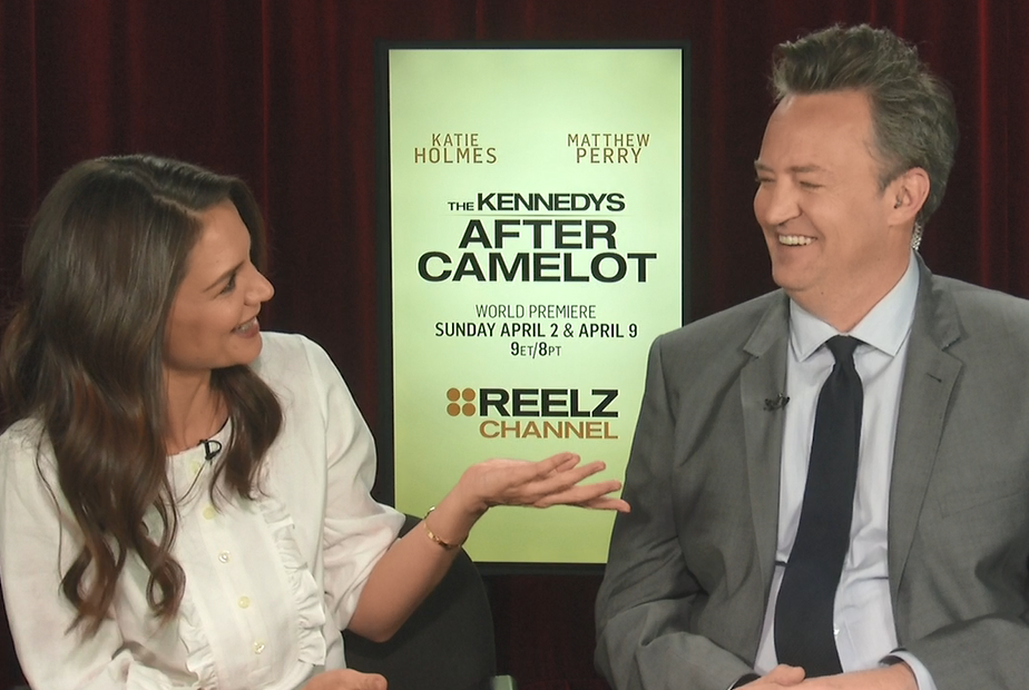 Katie Holmes and Matthew Perry The Kennedys After Camelot Interview