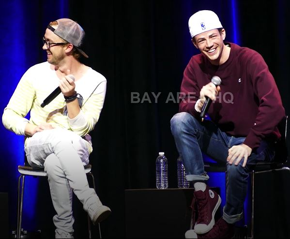 Grant Gustin Tom Felton The Flash Interview Full Panel San Jose Silicon Valley Comic Con 2017 Photo