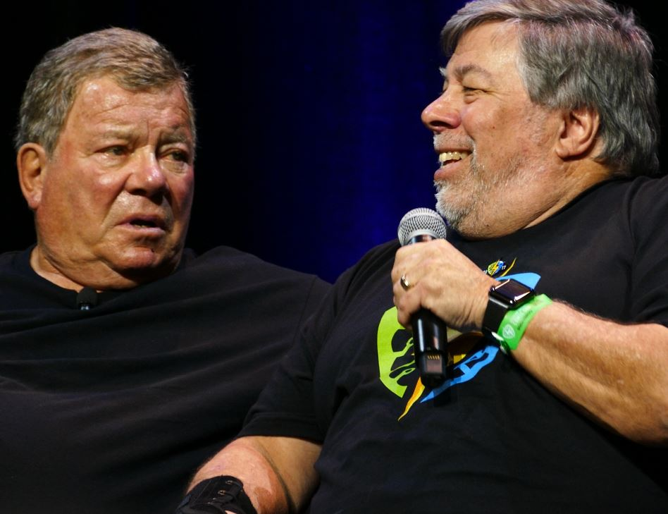 William Shatner Silicon Valley Comic Con 2017 Steve Wozniak SVCC