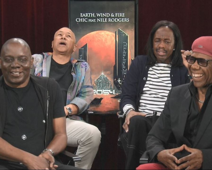Earth Wind and Fire Nile Rodgers Interview San Francisco Oakland Oracle Arena Tour Concert 2017 BioPic Easy Lover Phil Collins