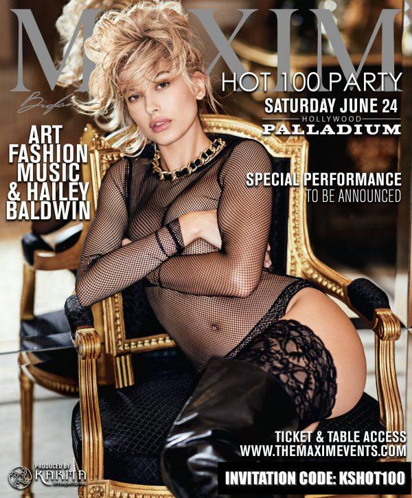 Maxim Hot 100 Party Invitation Code Hailey Baldwin 2017 Hollywood Instagram