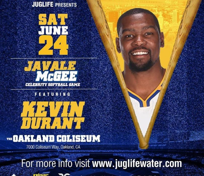 Kevin Durant Amber Rose Marshawn Lynch Javale Mcgee Celebrity Softball Juglife Water Golden State Warriors Oakland